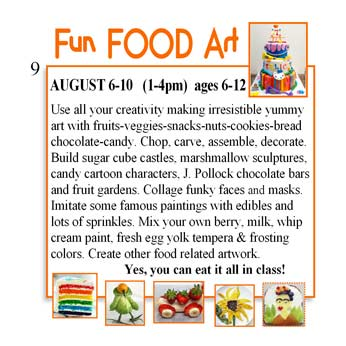Use all your creativity making irresistible yummy art with fruits-veggies-snacks-nuts-cookies-bread-chocolate-candy.