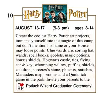 Create the coolest Harry Potter art projects, immerse yourself into the magic of this camp