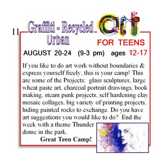 If you like to do art work without boundaries and express yourself freely, this is your camp!